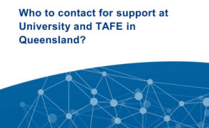 Who can help you at TAFE and Uni in Qld